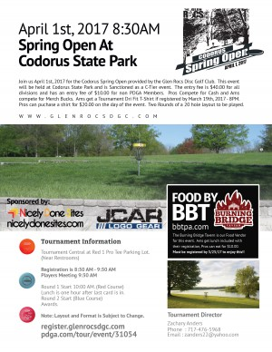 Codorus Spring Open graphic