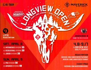 Maverick DG: Longview Open presented by INNOVA Discs - Int/Rec/Jr graphic