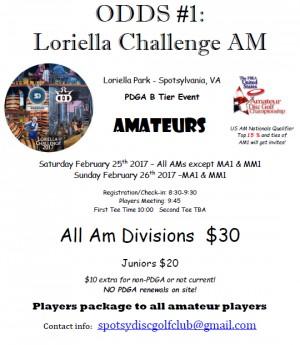 ODDS #1 - Loriella Challenge AM - MA1 & MM1 graphic