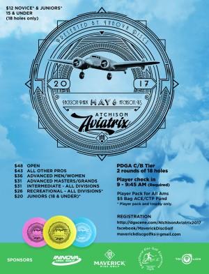 Maverick DG: Atchison Aviatrix '17 presented by Innova Discs graphic