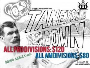 Fossa Disc Golf Presents: The Taneycomo Throwdown in Branson Mo. graphic