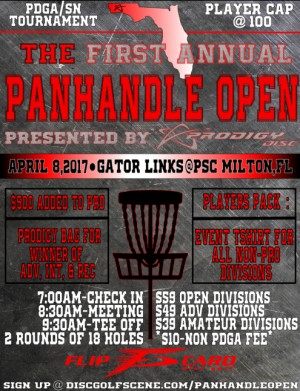 The Panhandle Open Presented by Prodigy Disc graphic