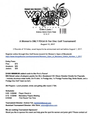 Women's Open of Maryland Edition Number 1 graphic