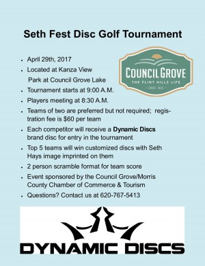SethFest Disc Golf Tournament graphic