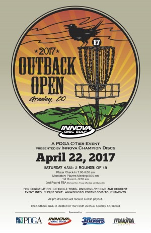 2017 Outback Open Presented by Innova Champion Discs graphic