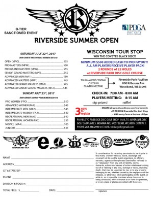 Riverside Summer Open Wisconsin Tour Stop Saturdays Field graphic