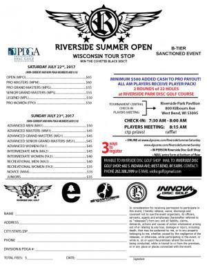 Riverside Summer Open Wisconsin Tour Stop Saturdays Field graphic
