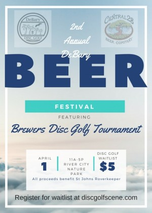 (Waitlist) Brewers Disc Golf Tournament @ 2nd Annual DeBary Beer Fest graphic