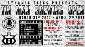 Dynamic Discs Presents: The Tinman Brewing Open graphic