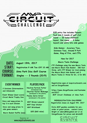 2017 MVP Circuit Challenge at Sims Park graphic
