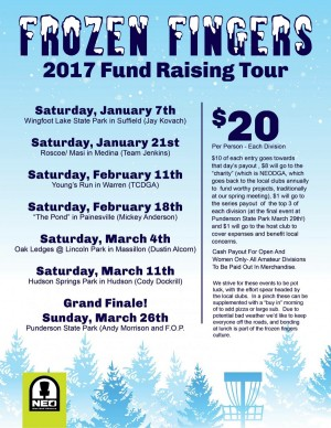 NEO 2017 Frozen Fingers Fund Raising Tour - Grand Finale graphic