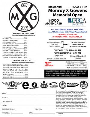 8th Annual Monroy X Gowens Memorial Open Pro/Adv Day graphic