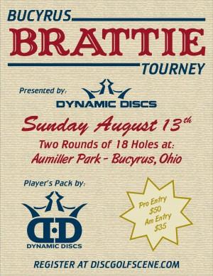 Bucyrus Brattie Tournament presented by Dynamic Discs graphic