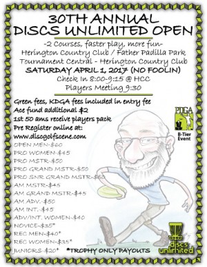 Discs Unlimited Open - 30th Annual graphic