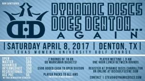 Dynamic Discs Does Denton.......Again graphic