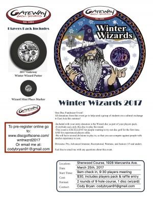 Winter Wizards Fundraiser graphic