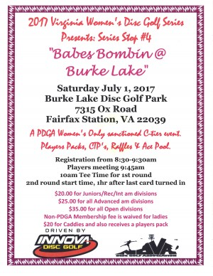 Babes Bombin @ Burke Lake graphic