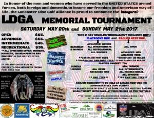 L.D.G.A. Inaugural Memorial Tournament @ Eagles Nest DGC graphic