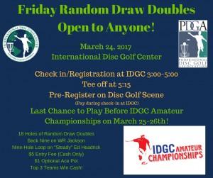 Friday Doubles - IDGC Amateur Championships graphic