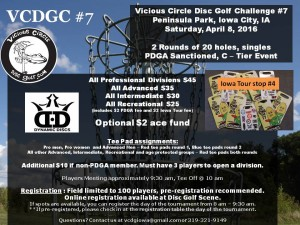 7th Annual Vicious Circle Disc Golf Challenge graphic