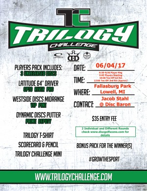 2017 Trilogy Challenge presented by Disc Baron graphic