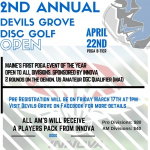2nd Annual Devils Grove Disc Golf Open graphic