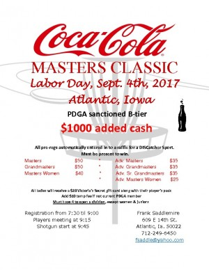 Coca-Cola Masters Classic - All Masters Divisions graphic