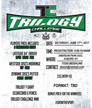 2017 CNYDGA Trilogy Challenge at Emerson Park DGC graphic