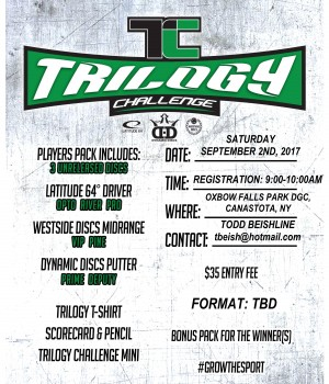 2017 CNYDGA Trilogy Challenge at Oxbow Falls Park DGC graphic