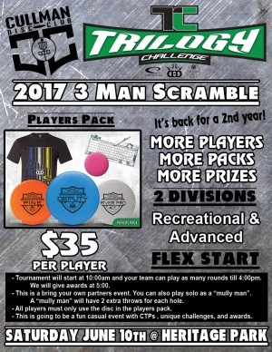 2017 CDC Trilogy Challenge 3 Man Scramble graphic