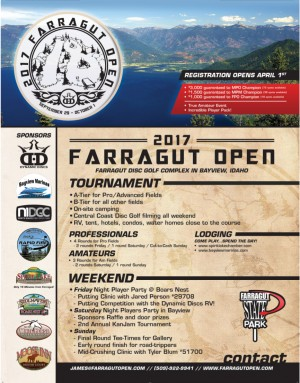 Farragut Open 2017 (PRO and Advanced Fields) graphic
