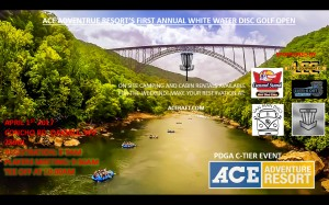 Ace Adventure Resort's First Annual White Water Disc Golf Open graphic