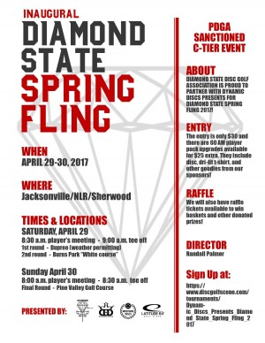Dynamic Discs Presents: Diamond State Spring Fling 2017 graphic