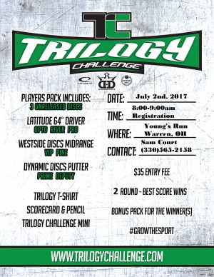 Trilogy Challenge sponsored by The Disc Junky graphic