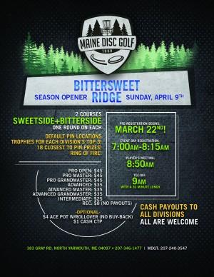 Maine Disc Golf Tour (Season Opener): Bittersweet Ridge Disc Golf graphic