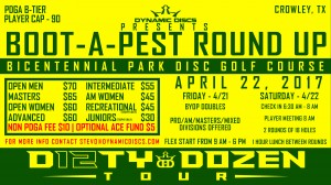 Dynamic Discs Presents the Boot-A-Pest Round-Up graphic