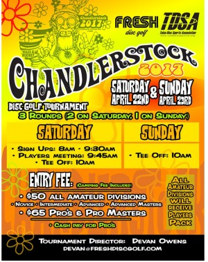 CHANDLERSTOCK  PRESENTED BY FRESH DISC GOLF graphic