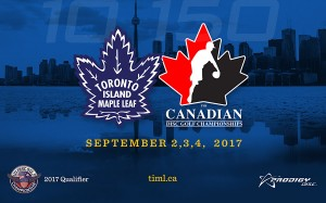 2017 Toronto Island Maple Leaf / Canadian National Championships presented by Prodigy Disc graphic