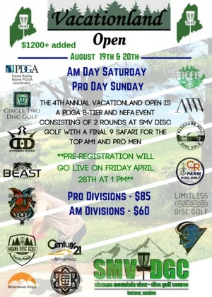 Vacationland Open Am Day graphic