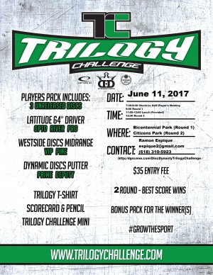 2017 Trilogy Challenge: Disc Dynasty Disc Golf Club graphic