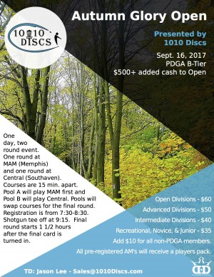 The 2nd Annual Autumn Glory Open Presented by 1010 Discs graphic