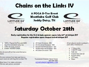 Chains on the Links IV sponsored by Latitude 64 graphic