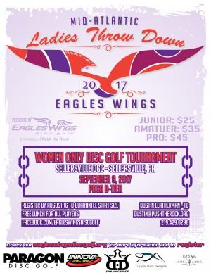 Eagles Wings Mid-Atlantic Ladies Throw Down graphic