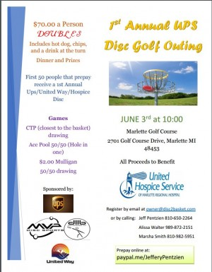 1st Annual UPS Outing Doubles Tournament to benefit United Hospice Services graphic