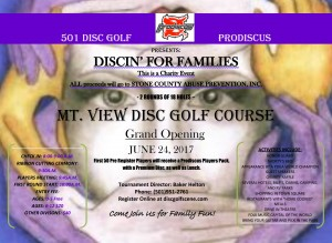 Mountain View's Discin' For Families graphic
