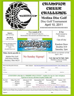 Champion Creek Challenge graphic