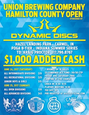 Hamilton County Open sponsored by Dynamic Discs Jr/Rec/Int Day graphic