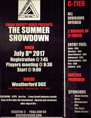 Summer Showdown at Weatherford Presented by Chain Society Discs graphic