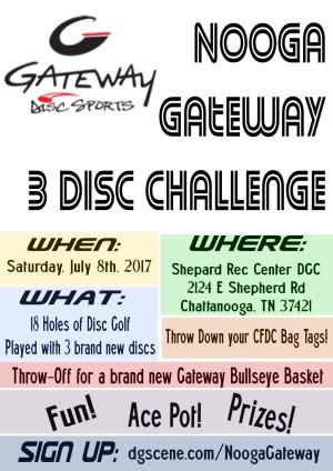 Nooga Gateway 3 Disc Challenge graphic