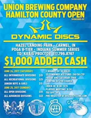 Hamilton County Open sponsored by Dynamic Discs Pro/Adv graphic
